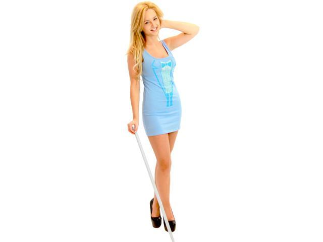 Sexy Dumb & Dumber Tuxedo Costume Tank Dress: Blue Medium