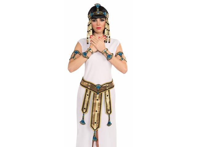 Deluxe Pair Egyptian Female Costume Wrist Cuffs Adult One Size