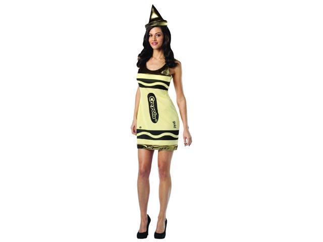 Crayola Gold Tank Costume Dress Adult 4-10