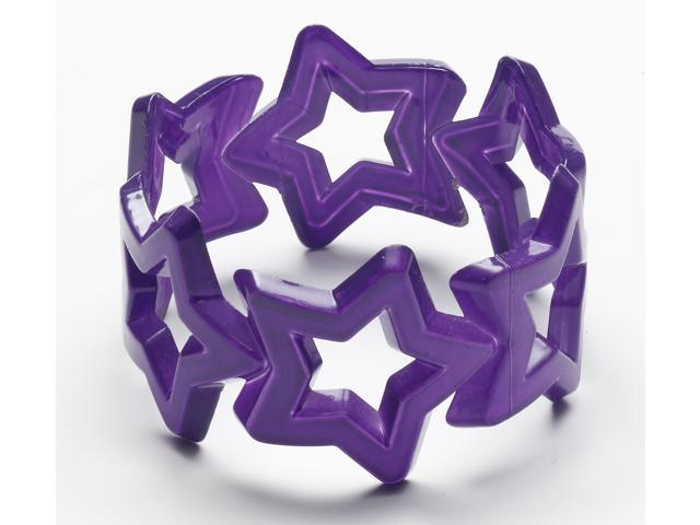 Club Candy Star Bangle Costume Bracelet: Purple One Size