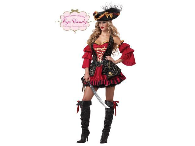 Sexy Spanish Pirate Dress Costume Adult Medium 8-10