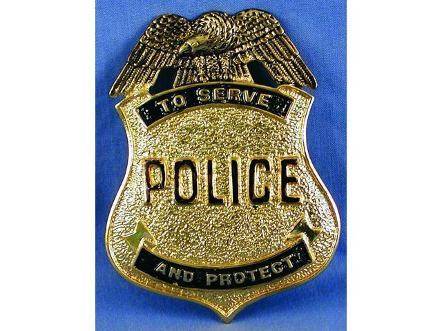 Police Costume Pin Badge One Size