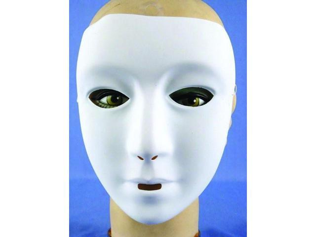 Female White Costume Mask One Size