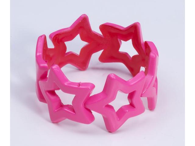 Club Candy Star Bangle Costume Bracelet: Pink One Size