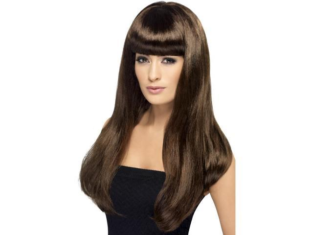 Babelicious Long Costume Wig Adult: Brown One Size