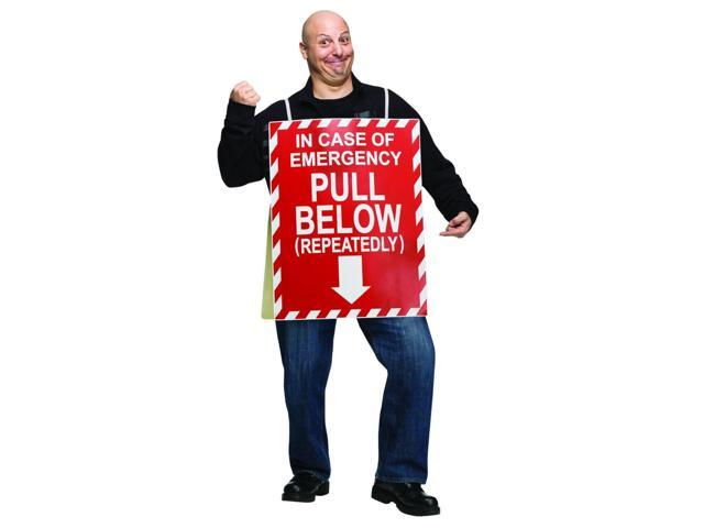 In Case Of Emergency Fire Extinguisher Costume Adult One Size Fits Most
