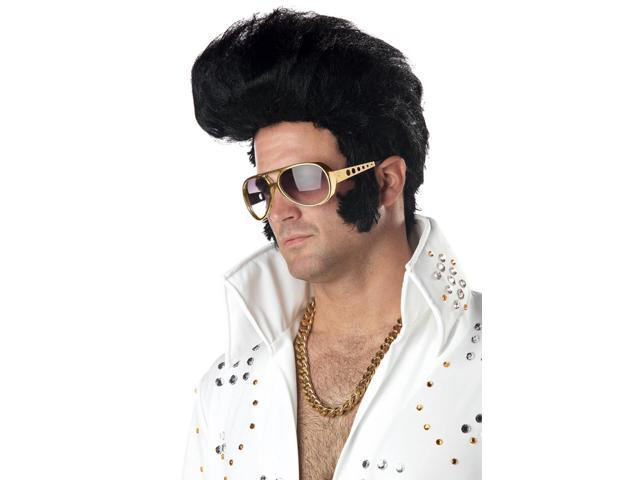Rock N' Roll King Costume Wig Adult: Black One Size