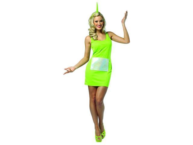 Teletubbies Dipsy Green Tank Mini Dress Costume Adult One Size Fits Most