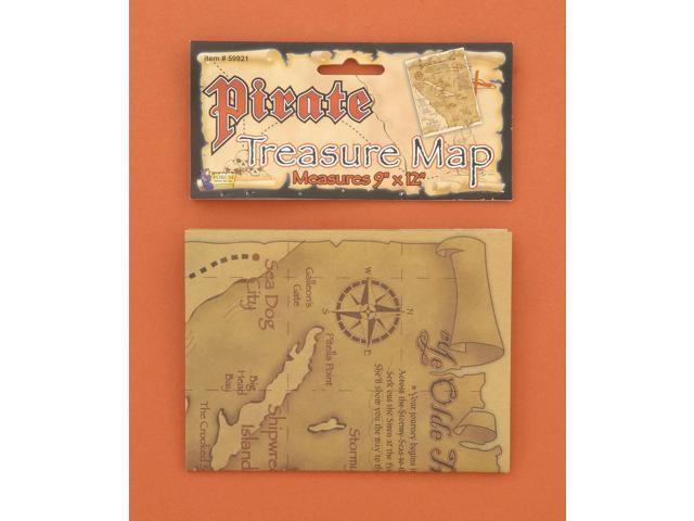 Pirate Treasure Map Costume Accessory One Size