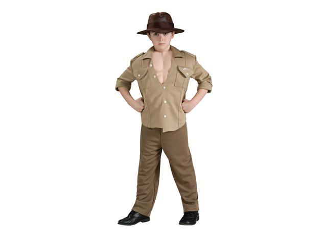 Indiana Jones Deluxe Muscle Chest Indiana Jones Child Costume Medium