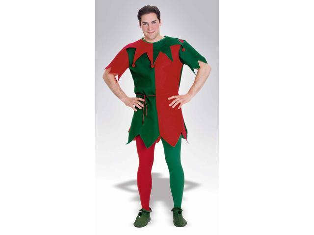 Christmas Holiday Elf Costume Tights Adult: Red & Green One Size Fits Most