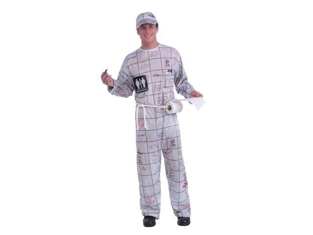 Graffiti Bathroom Wall Adult Male Costume One Size Fits Most