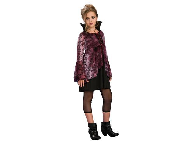 Vampira Vampiress Girl Dress Costume Tween Small