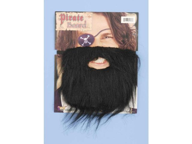Black Beard Pirate Costume Facial Hair One Size