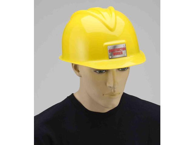 Deluxe Yellow Construction Hat Adult Costume Accessory One Size