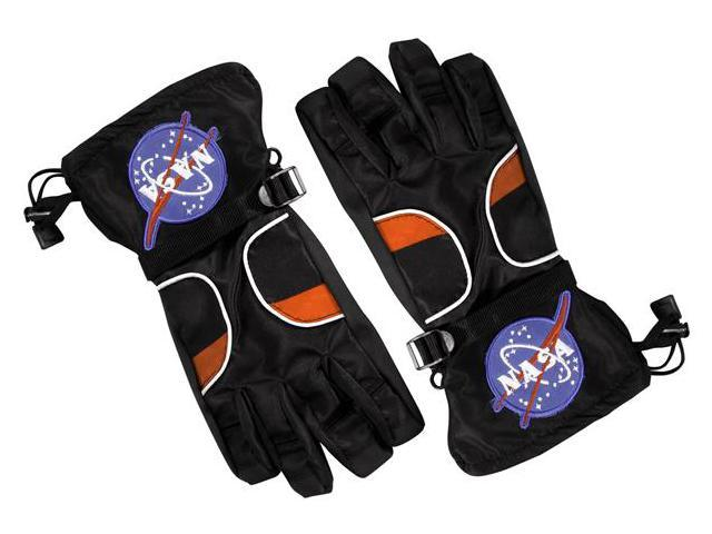 Jr. Astronaut Costume Gloves Child: Black Medium