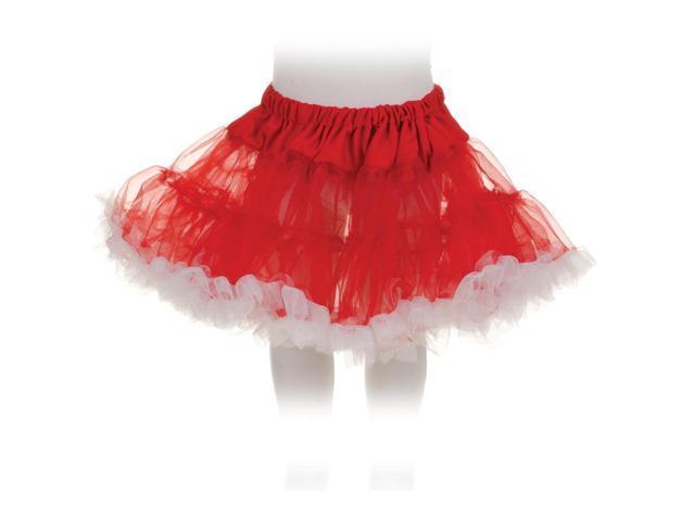 Tutu Petticoat Costume Skirt Child: Red & White One Size Fits Most