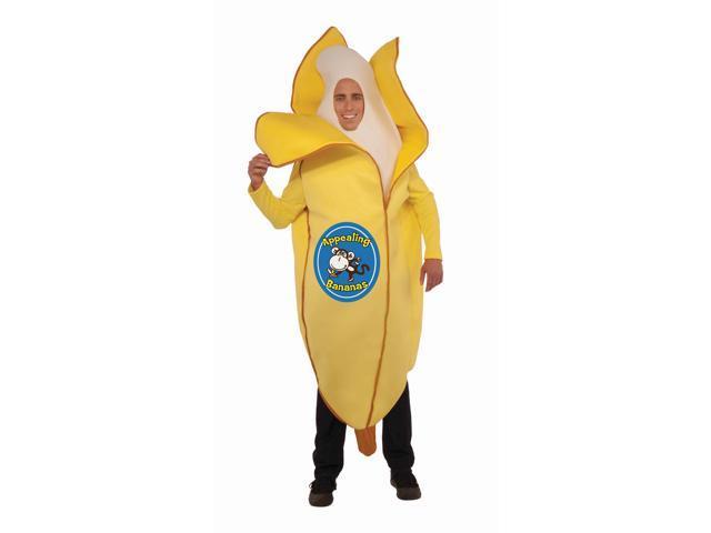 Fruit Jumpsuit Costume Banana Adult Standard