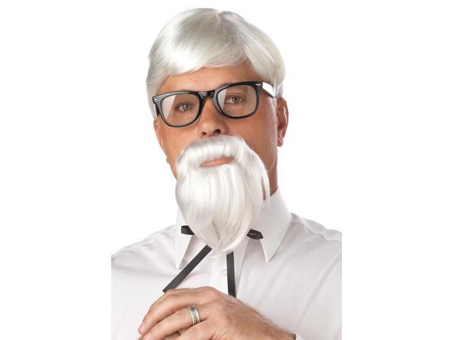 The Colonel Wig & Moustache Costume Accessory Set One Size