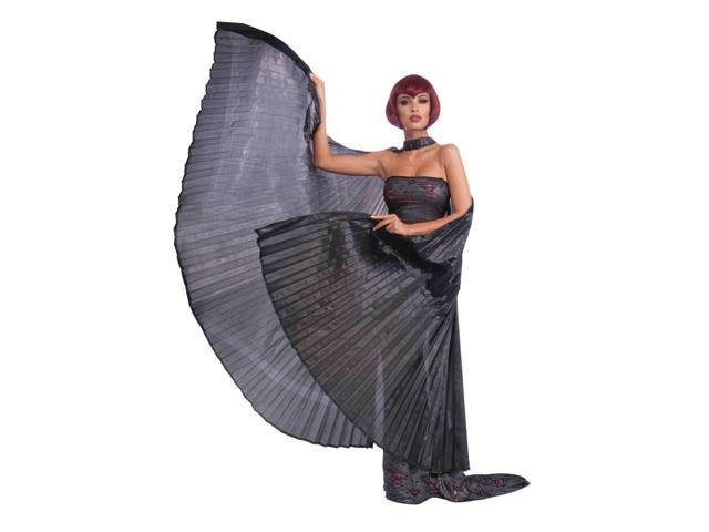 Black Gothic Theatrical Costume Wings One Size