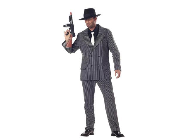 Gangster Pin-Stripe Costume Adult Large