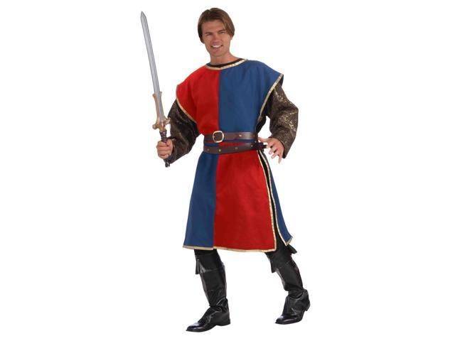 Medieval Red And Blue Tabard Adult Male Costume One Size