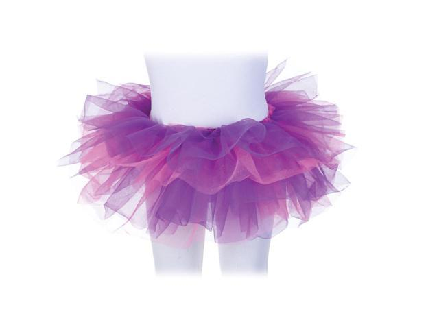 Tutu Costume Accessory Child: Pink & Purple One Size Fits Most