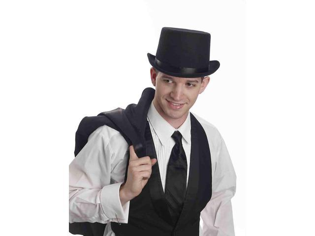 Super Deluxe Black Adult Male Costume Top Hat One Size