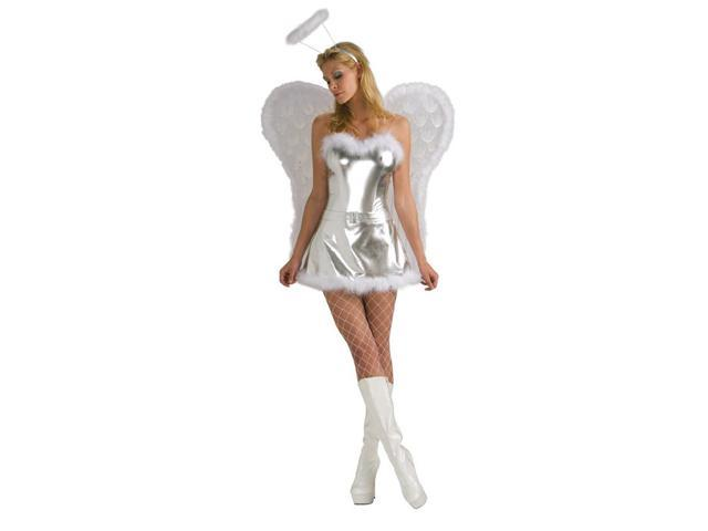 Sexy Silver Angel Costume Adult Standard