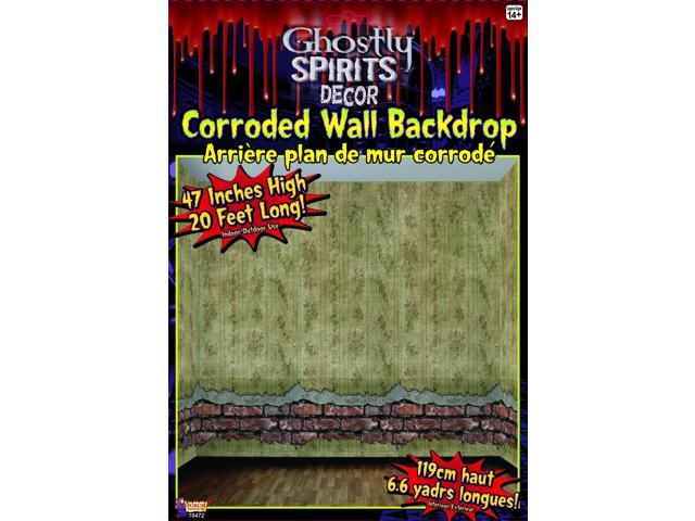 20' x 4' Corroded Wall Backdrop Halloween Party Decoration One Size
