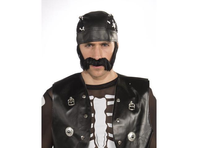 Bad Biker Macho Moustache Costume Accessory One Size