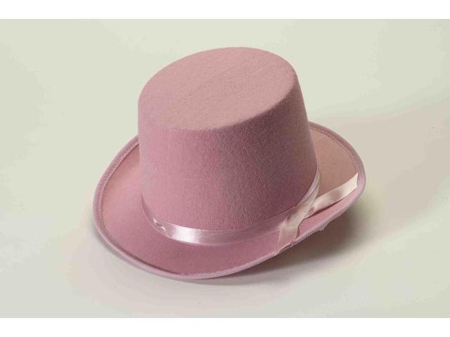 Pink Felt Adult Costume Top Hat One Size