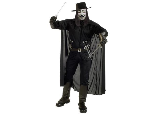 V For Vendetta Adult Costume X-Large