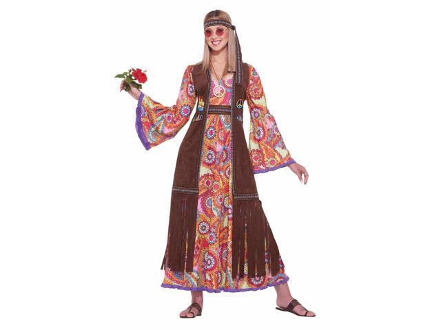 Love Child 60's 70's Hippie Flower Power Costume Adult Standard