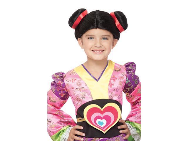 Harajuku Buns Black Child Costume Wig One Size