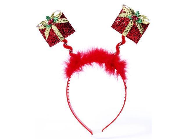 Christmas Present Costume Glitter Headband One Size Fits Most
