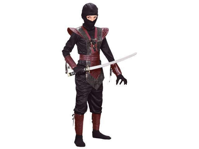 Ninja Leather-Like Realistic Red Child Costume Small