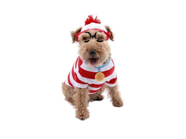 Where's Waldo Woof Pet Dog Costume Medium