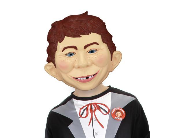 Alfred E Neuman Costume Mask Adult One Size