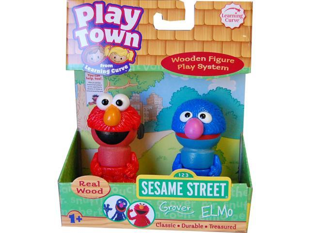 Sesame Street Play Town Real Wood 2pk Grover & Elmo Case Of 6