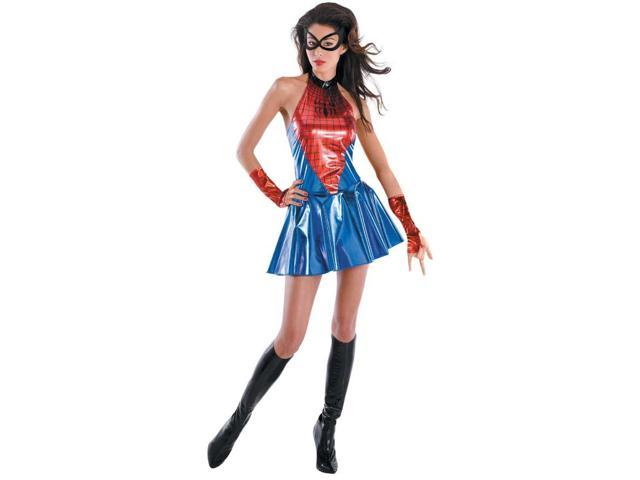 Spider Girl Sexy Deluxe Adult Costume 8-10