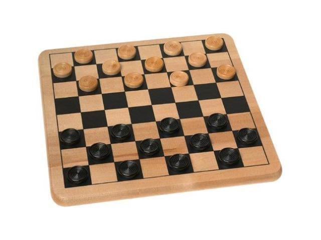 Wood Checkers Board Game Set