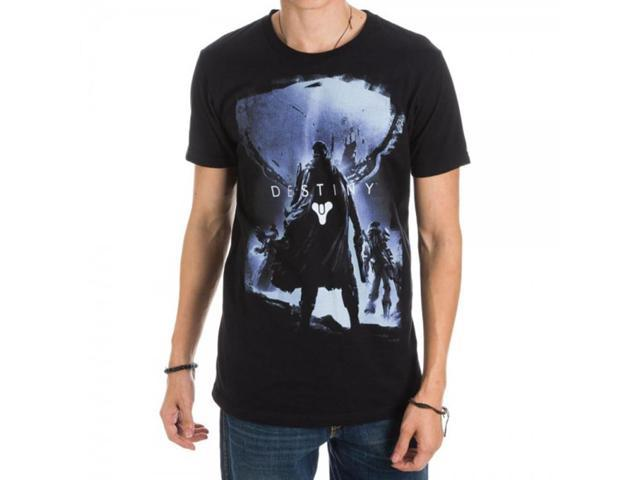 Destiny Game Cover Black Adult Men's T-Shirt X-Large