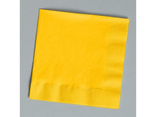 Touch Of Color 50 Count Luncheon Napkins School Bus Yellow