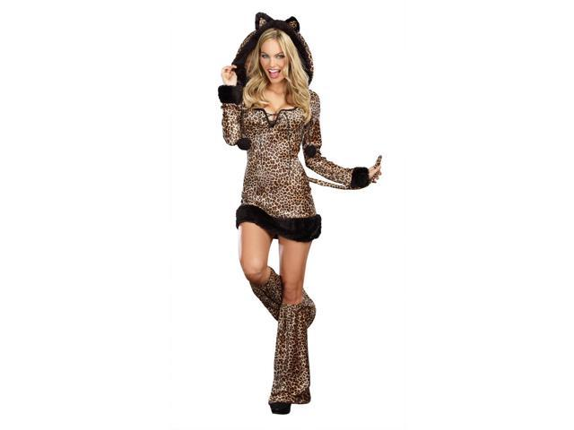 Sexy Cheetah-Licious Costume Dress Adult Small