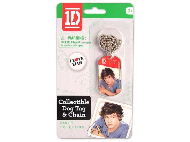 1D One Direction Collectible Dog Tag Necklace: Liam