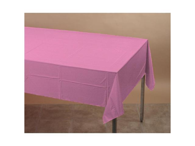 Touch Of Color Plastic-Lined Table Cover 54x108 Candy Pink