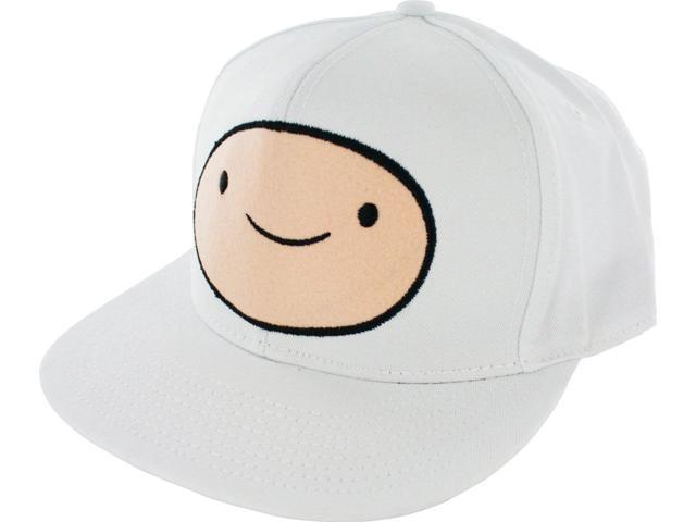 Adventure Time Men's Snapback Cap: Finn White