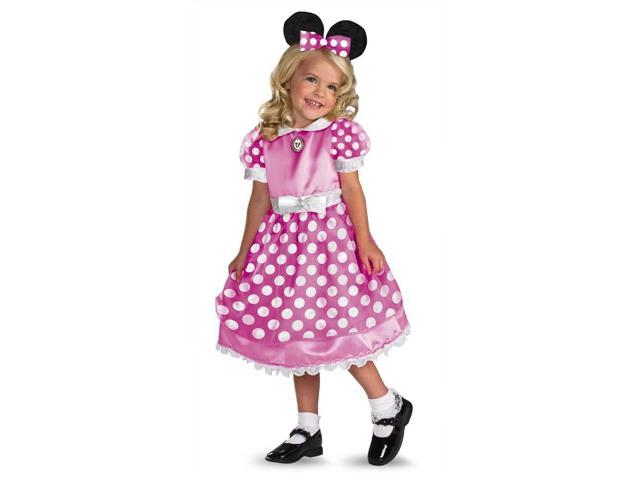 Mickey Mouse Clubhouse Minnie Mouse Pink Child Costume 4-6