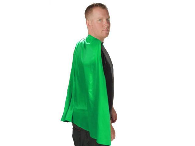 Deluxe Super Hero Costume Cape Green One Size Fits Most